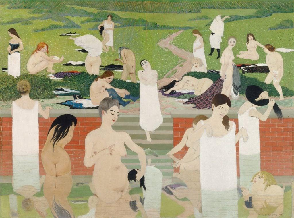 art relax Félix Vallotton, The Bath. Summer Evening, 1892/1893, Kunsthaus Zürich, Zürich; Masterpieces to Calm Your Anxiety
