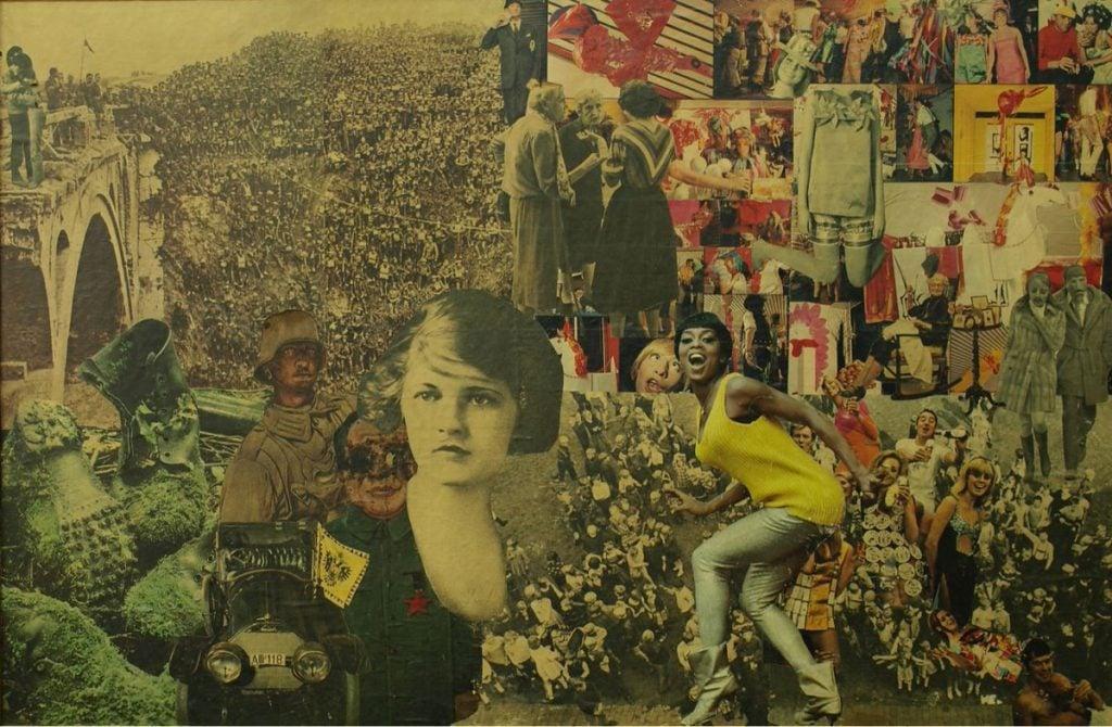 female artist Vera Fischer, Many People, 1971