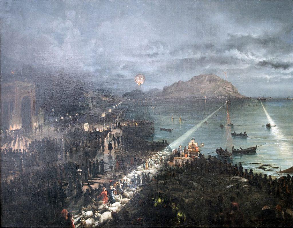 Kiyohara Tama, The night of the Ascension feast (La notte dell'Ascensione), 1891.