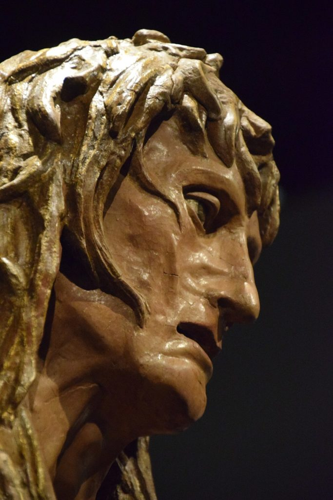 Donatello, Penitent Mary Magdalene (Detail), c. 1455, Museo dell'Opera del Duomo, Florence, Italy. Photo by George M. Groutas, Wikimedia Commons.