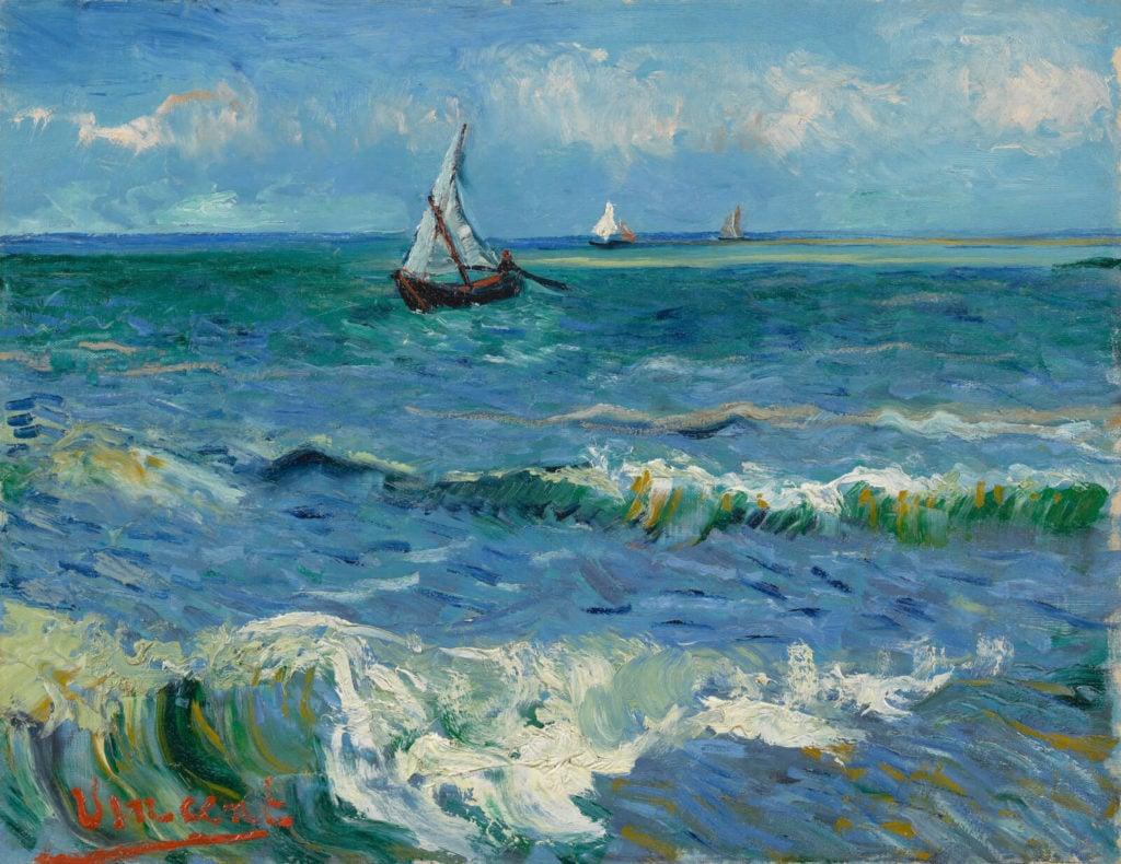 Vincent van Gogh, Seascape near Les Saintes-Maries-de-la-Mer, 1888, Van Gogh Museum, Amsterdam.