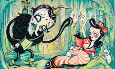 """Camille Rose Garcia, gothic illustration of the Brothers Grimm fairytale """"Snow White"""", Source: Artsy."""
