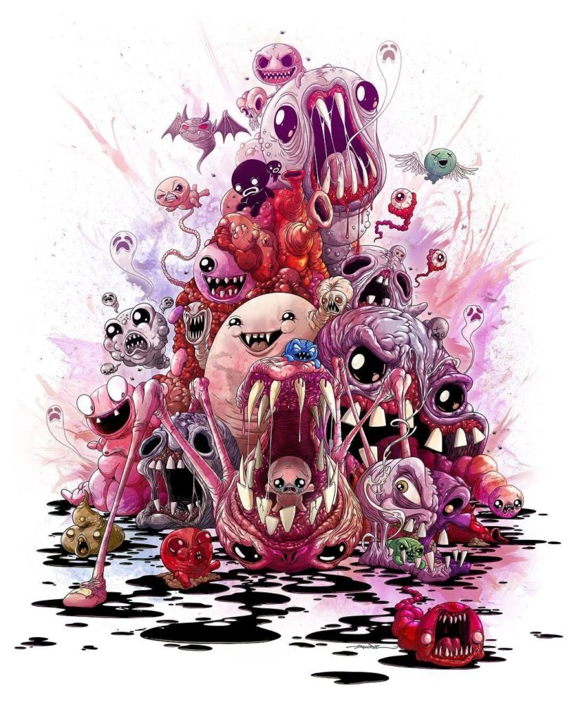 Alex Pardee, The Binding of Isaac: Four Souls, 2018, illustration, Source: Alex Pardee instagram account.