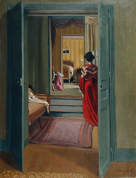 Félix Vallotton, Interior with Woman in Red Seen from Behind, 1903