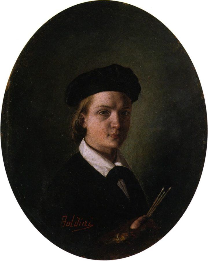 Giovanni Boldini, Self Portrait, 1856, Palazzo Dei Diamanti, Ferrara, Italy, source: Wiki commons.