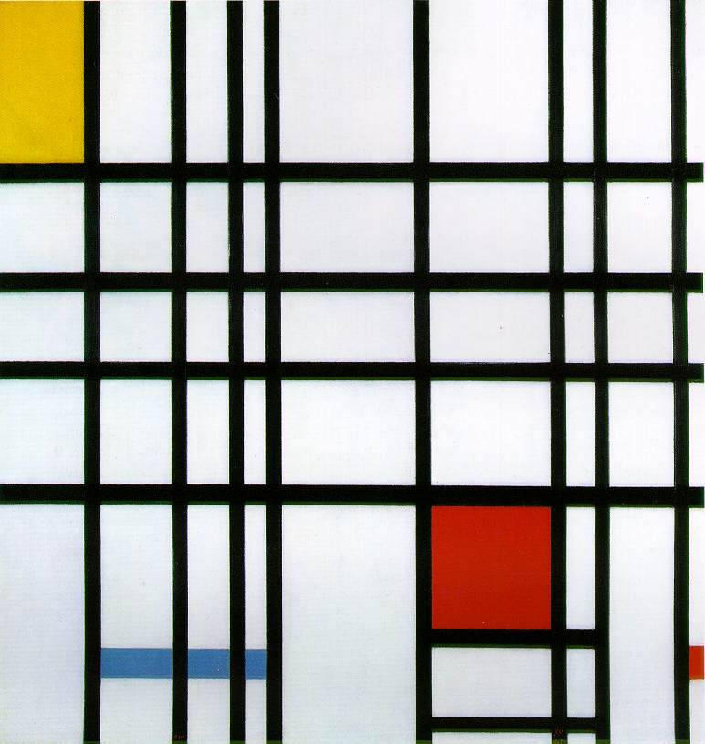 Composition with Yellow, Blue and Red by Piet Mondrian