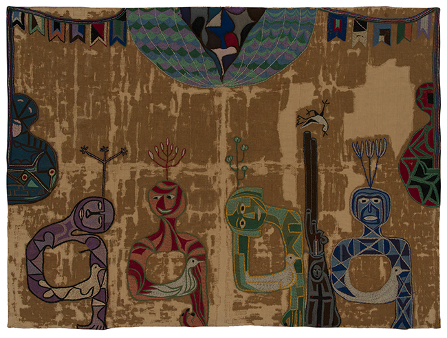 Violeta Parra, Against the War (Contra la guerra), 1962, Colección Museo Violeta Parra, Santiago, Chile.