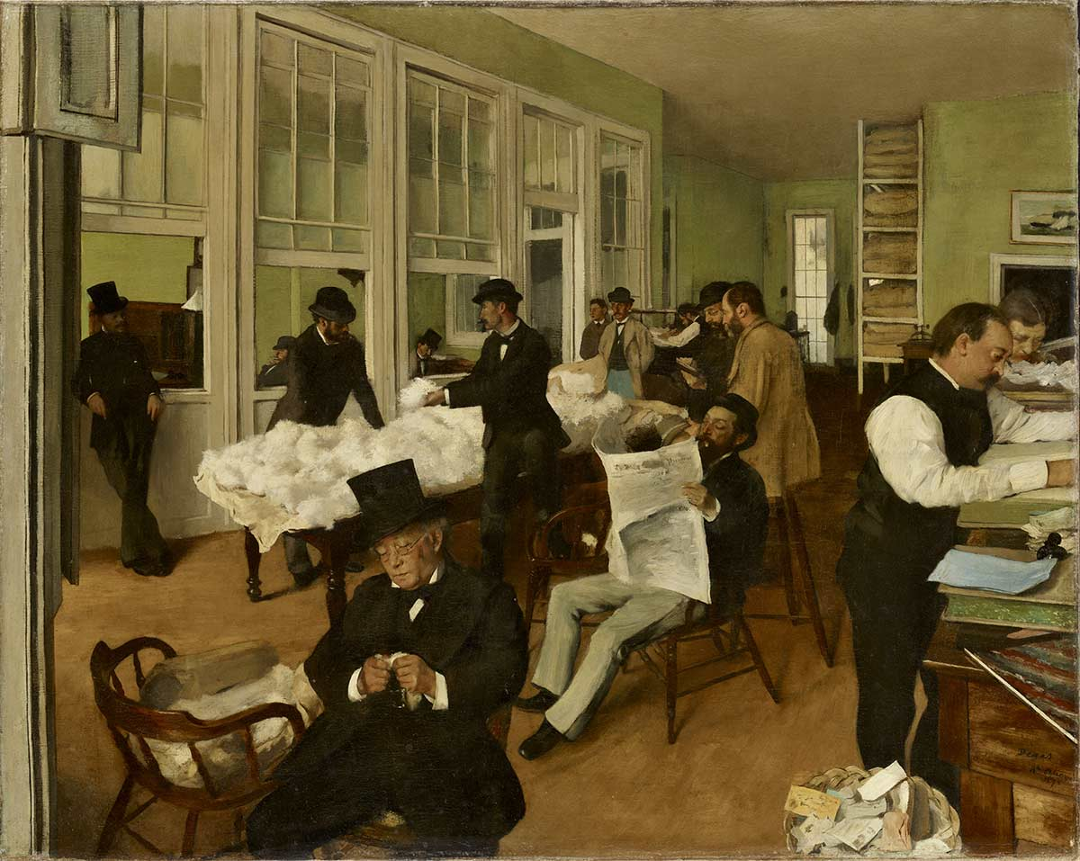 Edgar Degas's painting of his family's busy cotton office.