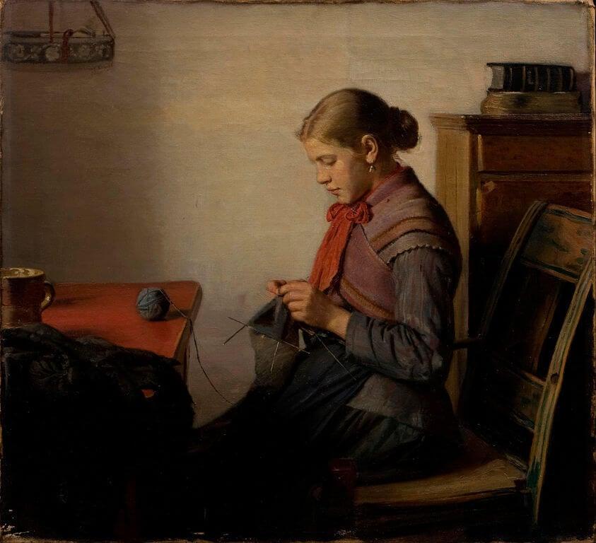 a new hobby crocheting: Michael Peter Ancher, Skagen Girl, 1882, The Hirschprung Collection, Kopenhagen, Denmark.