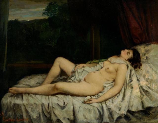 Courbet scandalous nudes