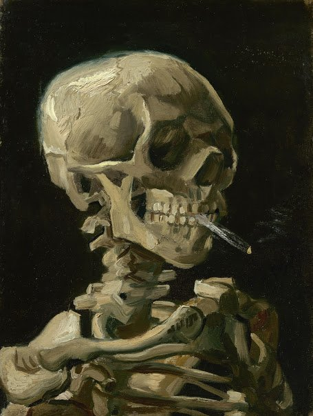 Vincent van Gogh, Head of a Skeleton with a Burning Cigarette, 1886, Van Gogh Museum, Amsterdam - Hidden Gems from the Van Gogh Museum