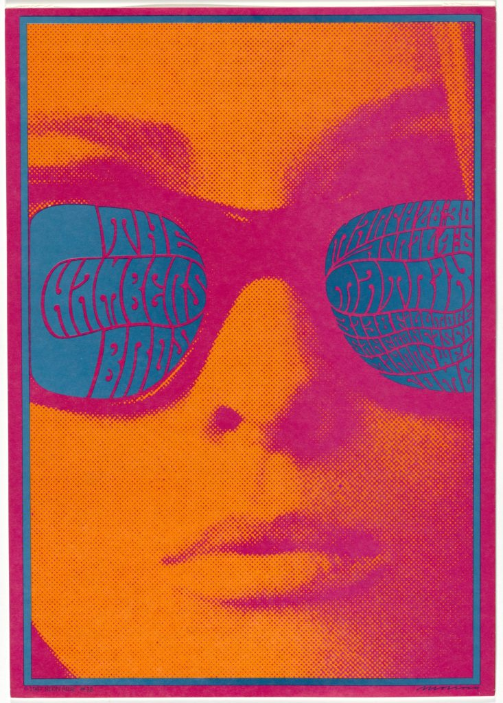 Victor Moscoso, The Chambers Brothers, 1967, offset lithograph, Museum of Modern Art, New York, USA.