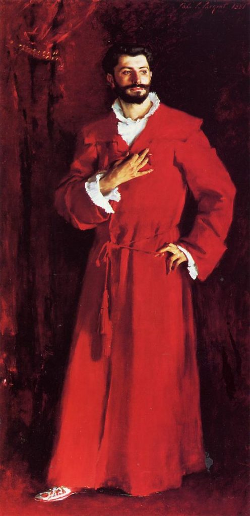 John Singer Sargent, Dr. Pozzi at Home, 1881; Doctors in Paintings