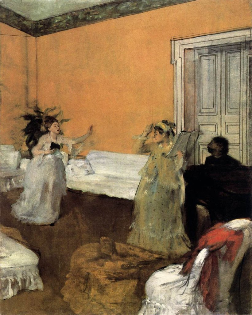 Edgar Degas's painting showing two women rehearsing a song.