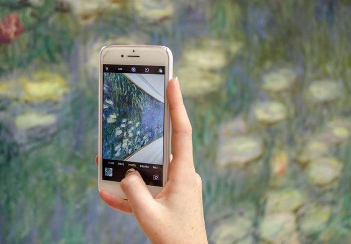 Benefits of Visiting a Museum: Claude Monet's Les Nymphéas at Musée de l'Orangerie, Paris, France.