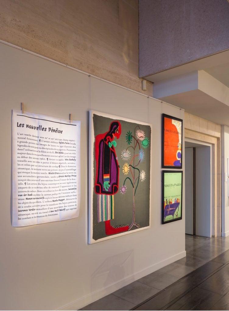 """Violeta Parra, The Clown, 1960, Musée des Arts Décoratifs, París, France. From the exhibition """"Travaux de Dames?"""", 2017, Photograpph: Luc Boegly."""