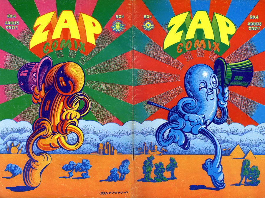 Cover by Victor Moscoso for Zap Comix, Source: www.comics.org.
