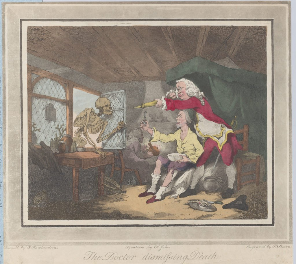 Peter Simon, The Doctor Dismissing Death, 1785.