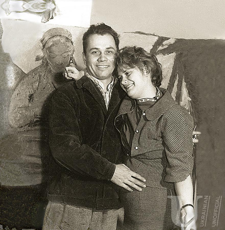 The photo of Viktor Zaretskyi and his wife Alla Horska. It was made in 1960s.