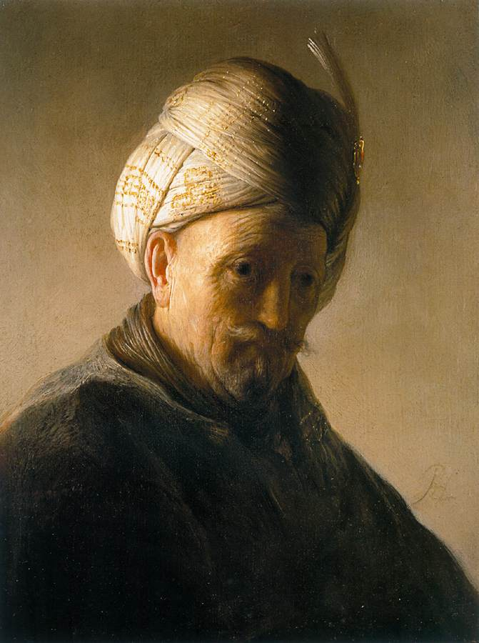 Rembrandt, Bust of an Old Man with Turban, 1627-28, oil on panel, 26.5 x 20 cm, The Kremer Collection, Amsterdam.