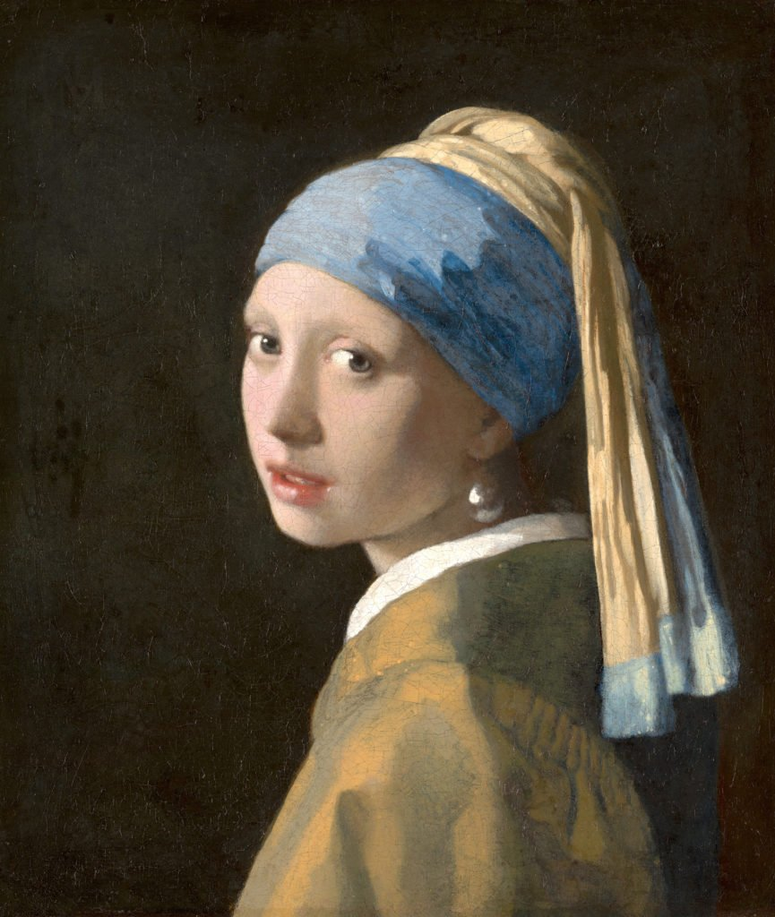 Johannes Vermeer,The Girl with a Pearl Earring, 1665, oil on canvas, 44.5 x 39 cm, Mauritshuis, The Hague, Netherlands. tronie