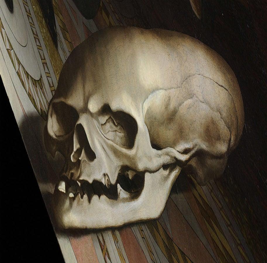 The Ambassadors, skull detail.