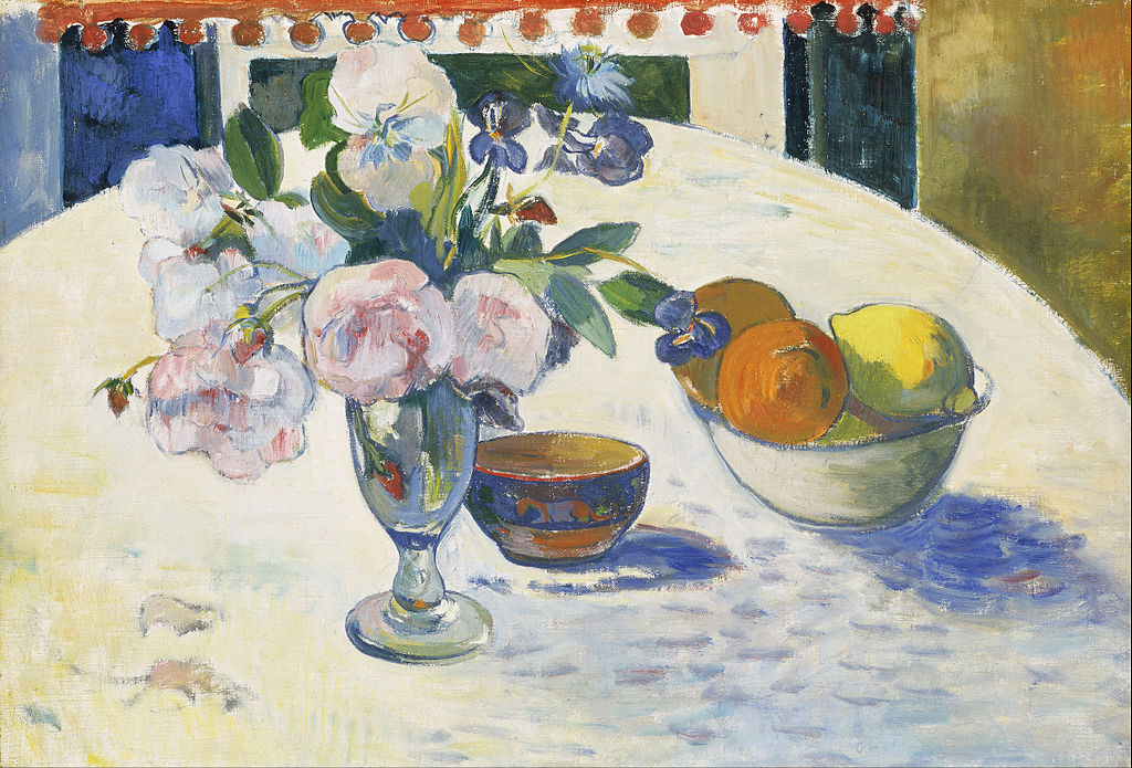Paul Gauguin, Flowers and a Bowl of Fruit on a Table, 1894, Museum of Fine Arts, Boston, MA, USA.