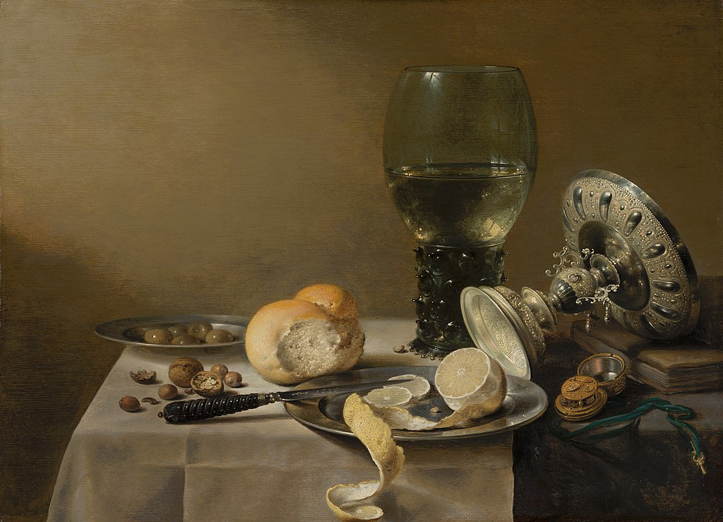 Pieter Claesz, Still Life with Tazza, 1636. Mauritshuis, The Hague, Netherlands.