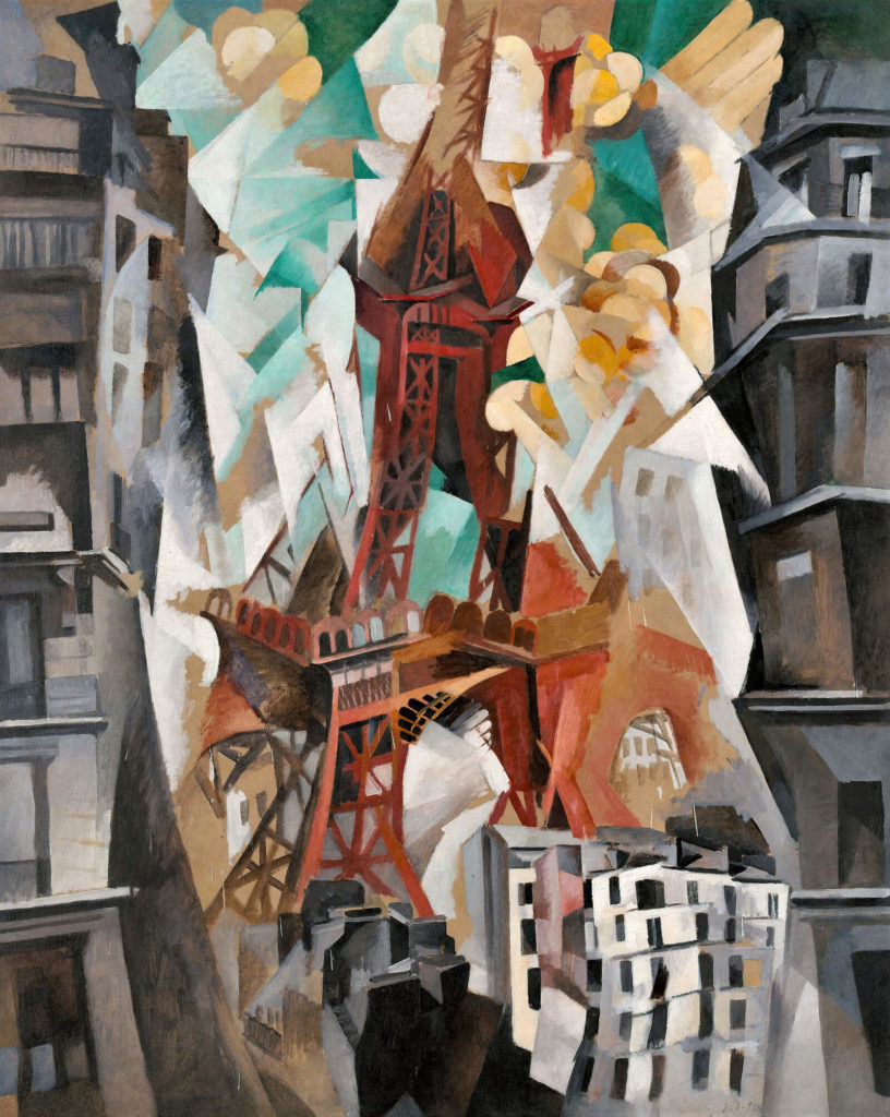 Robert Delaunay, Champs de Mars: The Red Tower, 1911-23, Art Institute of Chicago.  Entire Painting.