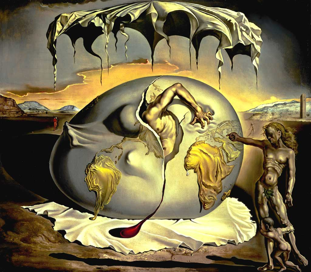 Salvador Dali, Geopoliticus Child Watching the birth of a new man