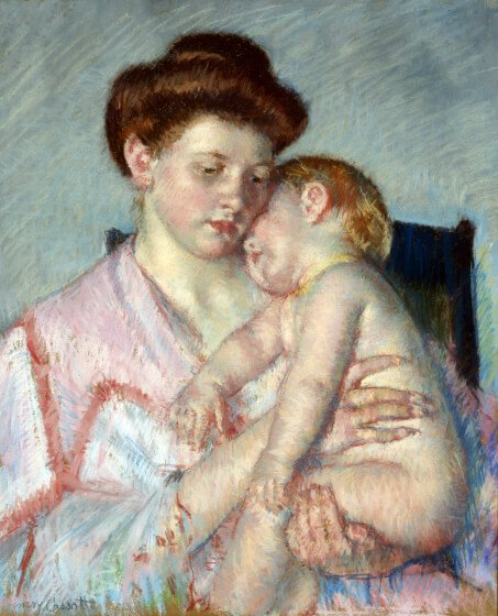Mother and Child Mary Cassat Sleepy Baby