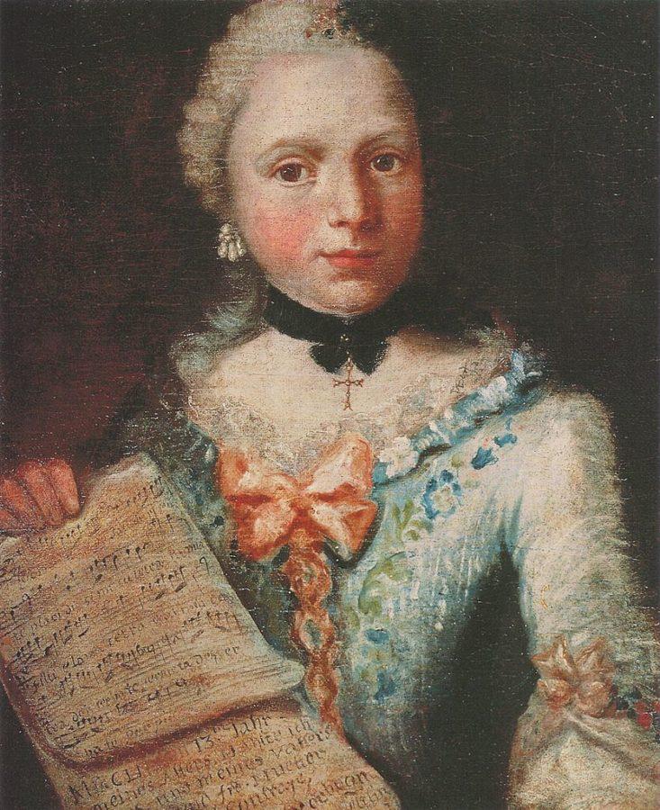 Angelica Kauffman, Self Portrait aged thirteen