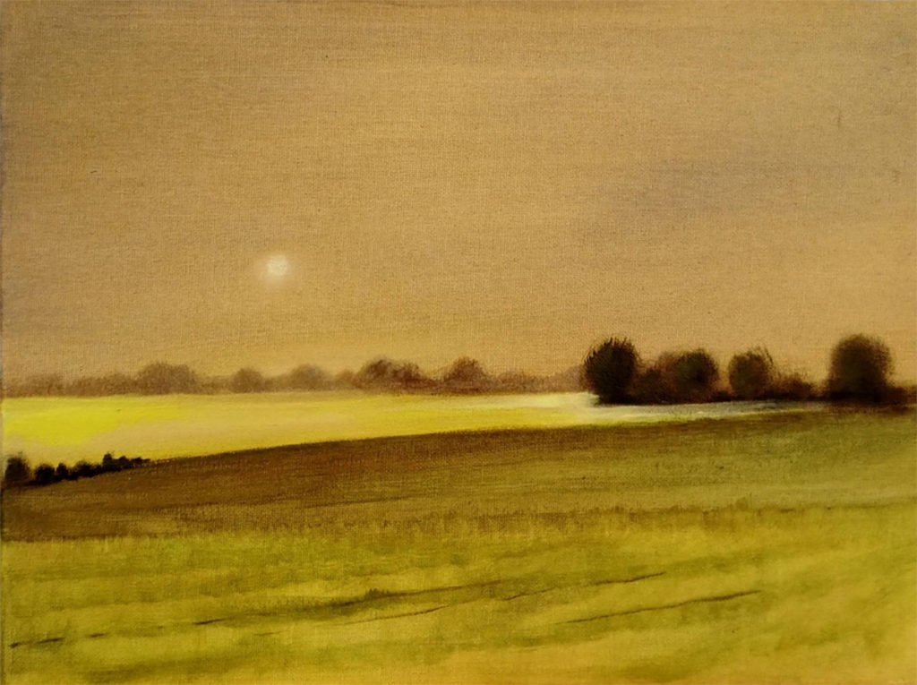 British Landscape by Alan Harris, Countryside, 1980s?, oil on canvas