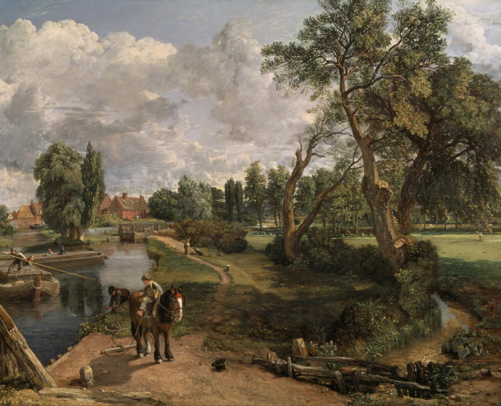 British Landscape by John Constable, Flatford Mill ('Scene on a Navigable River'), 1816-17, oil on canvas