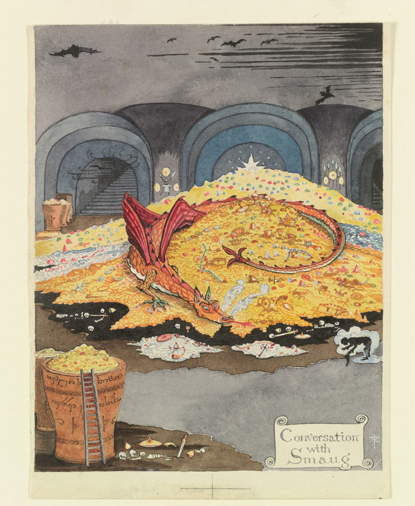 Smaug; Tolkien illustrations middle earth art
