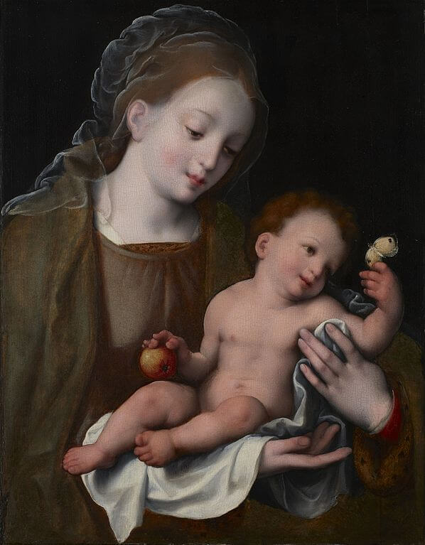 babies in art, Madonna and Child