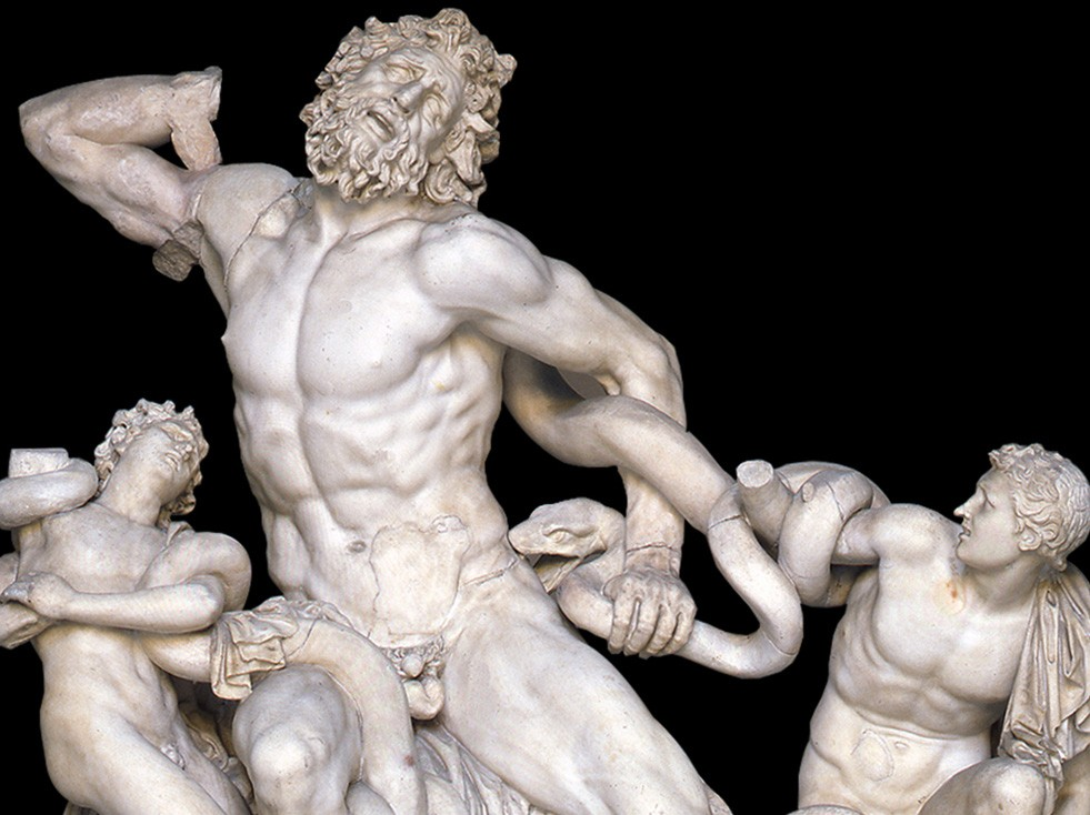 Archetypes in Star Wars Art: Agesander, Athenodoros, and Polydorus of Rhodes (attr.), Laocoön and his Sons, 40-30 BCE, Museo Pio Clementino, Vatican Museums. Detail.