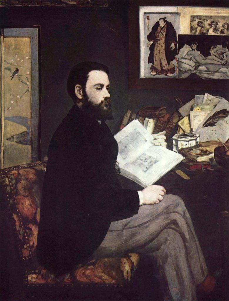 Edouard Manet,  Portrait of Emile Zola, 1868, Oil on canvas, 146.5 x 114 cm, Musée d'Orsay.