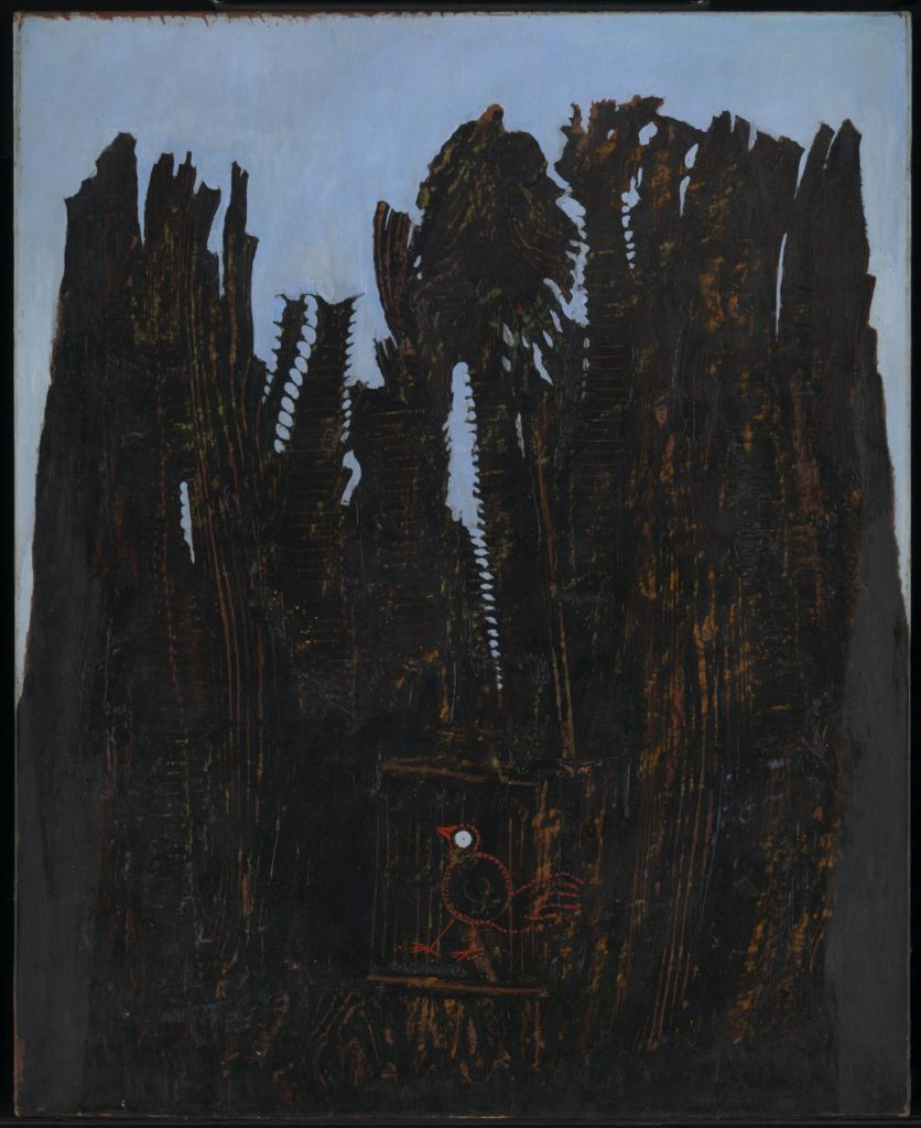 A bird trapped in a dark forest. Max Ernst Forest and Dove.