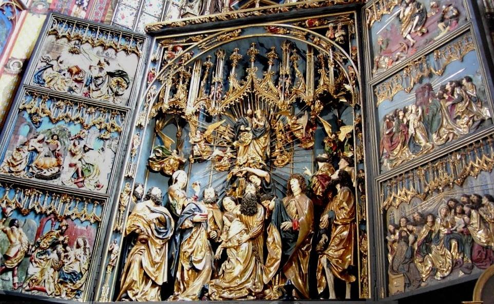 The Veit Stoss altarpiece, detail