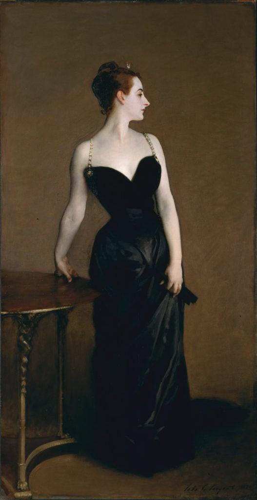 John Singer Sargent, Portrait of Madame X, 1884, oil on canvas, 234.95 cm × 109.86 cm, The Metropolitan Museum of Art.