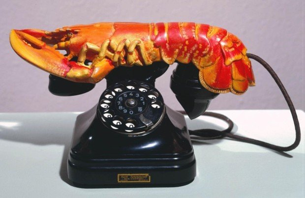 Salvador Dali, Lobster Telephone, 1936, Tate 10 Funniest Daily Art Magazine Articles