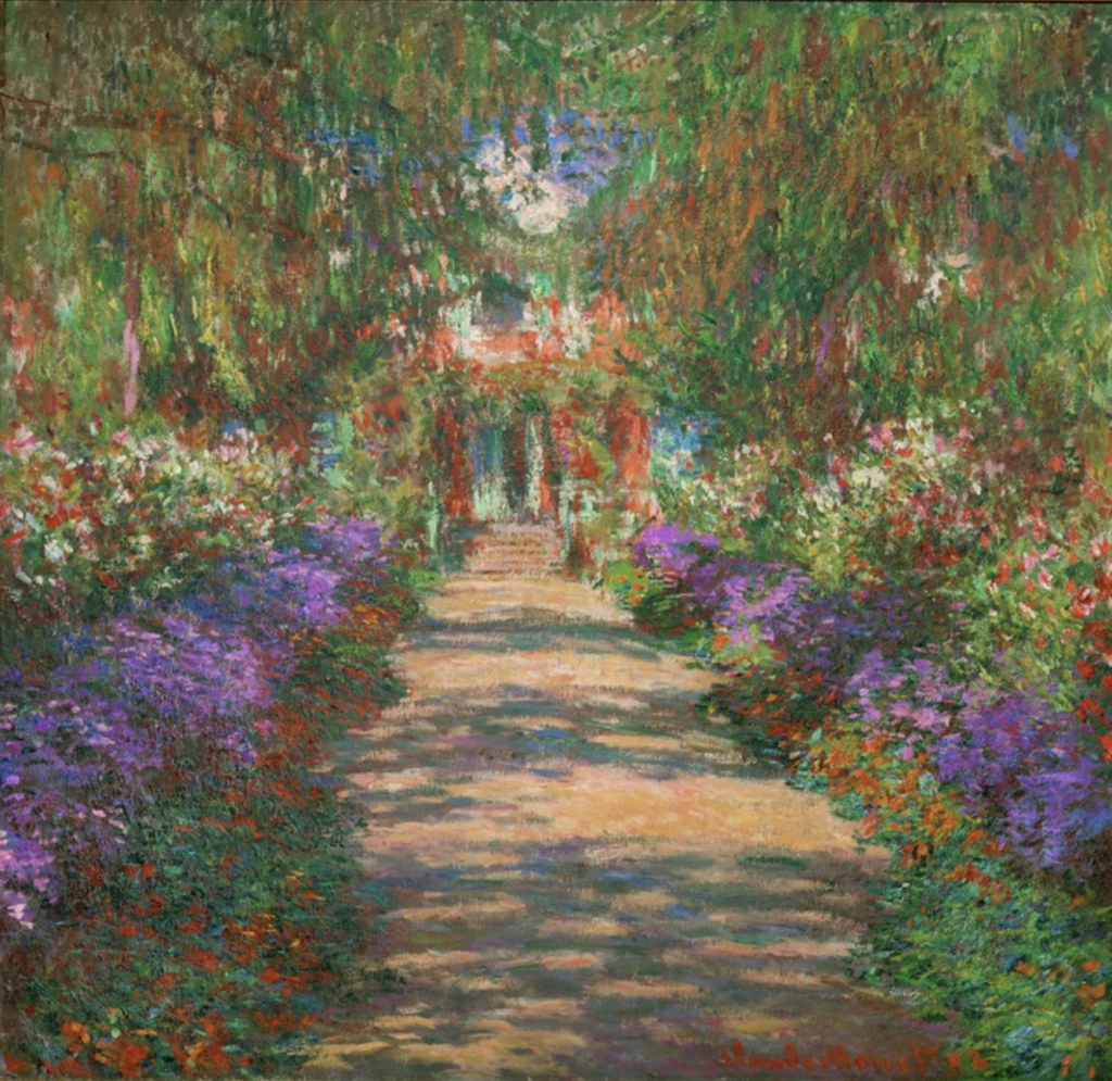 Monet's painting 'The Artists Garden at Giverny'