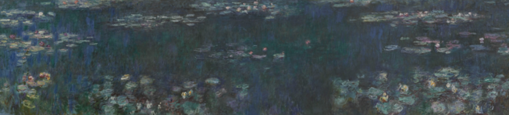 Water lilies painting Monet
