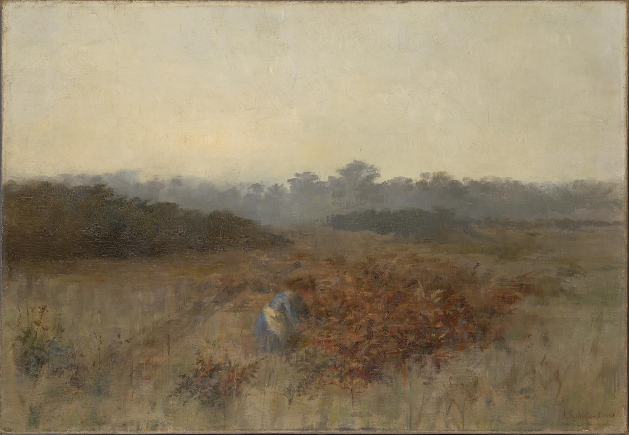 JAustralian Impressionism: ane Sutherland, Numb fingers working while the eye of morn is yet bedimmed with tears,