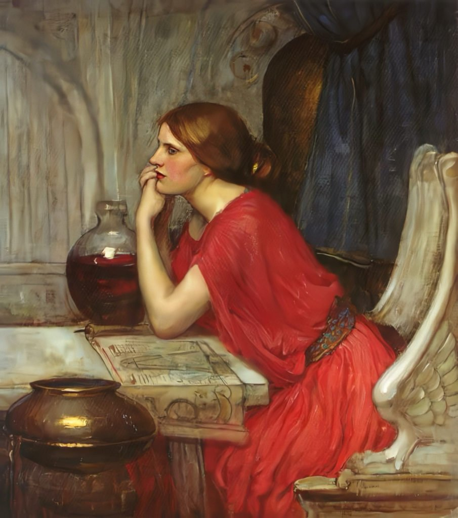 The other version of The Sorceress by John William Waterhouse
