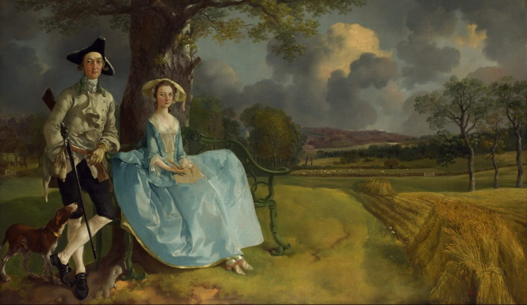 Thomas Gainsborough. Mr. and Mrs. Andrews, about 1750, oil on canvas, 69.8 cm × 119.4 cm, National Gallery, London.