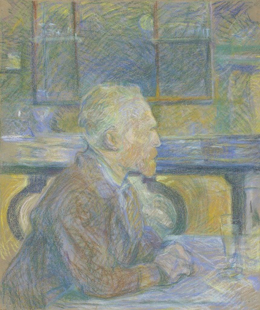 Henri de Toulouse-Lautrec, Portrait of Vincent van Gogh, 1887, credits: Van Gogh Museum, Amsterdam (Vincent van Gogh Foundation)