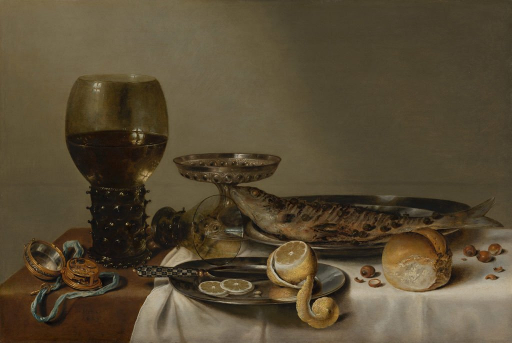 Willem Claesz Heda, Still Life with a Roemer and Watch, 1629. Mauritshuis, The Hague, Netherlands.