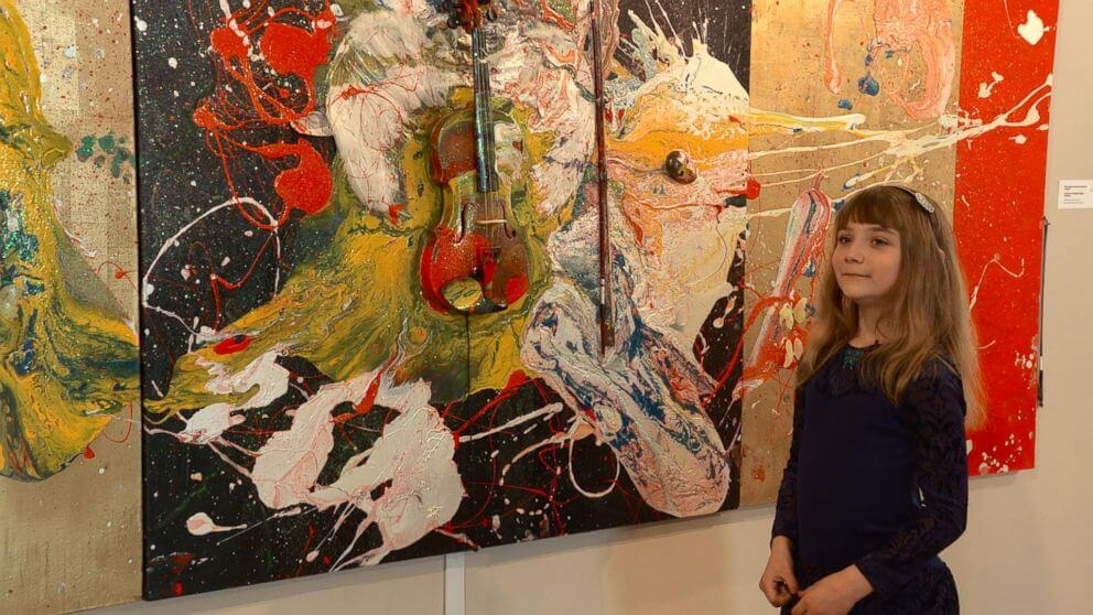 Aelita Andre, abstract exhibition